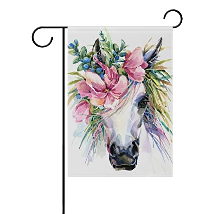 Amazon com : ClustersN Unicorn Horse Flower Double-Sided