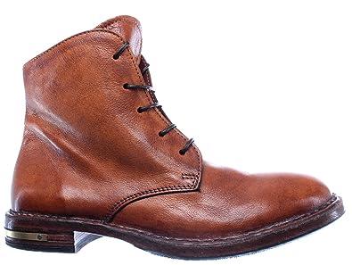 bas prix 4322d 2e687 MOMA Chaussures Femme Bottines 83705-R1 Pelle Cuir Marron ...