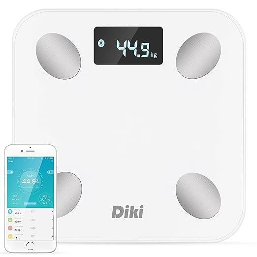 143 opinioni per DIKI Bilancia Pesapersone Intelligente e Bluetooth,Bilancia Digitale per Grasso
