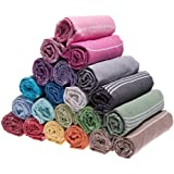 Set of 3 XL - 100% Cotton Turkish Bath Beach Yoga Gym Yacht Hamam Towel Wrap Pareo Fouta Throw Peshtemal Sheet Blanket, Multicolor