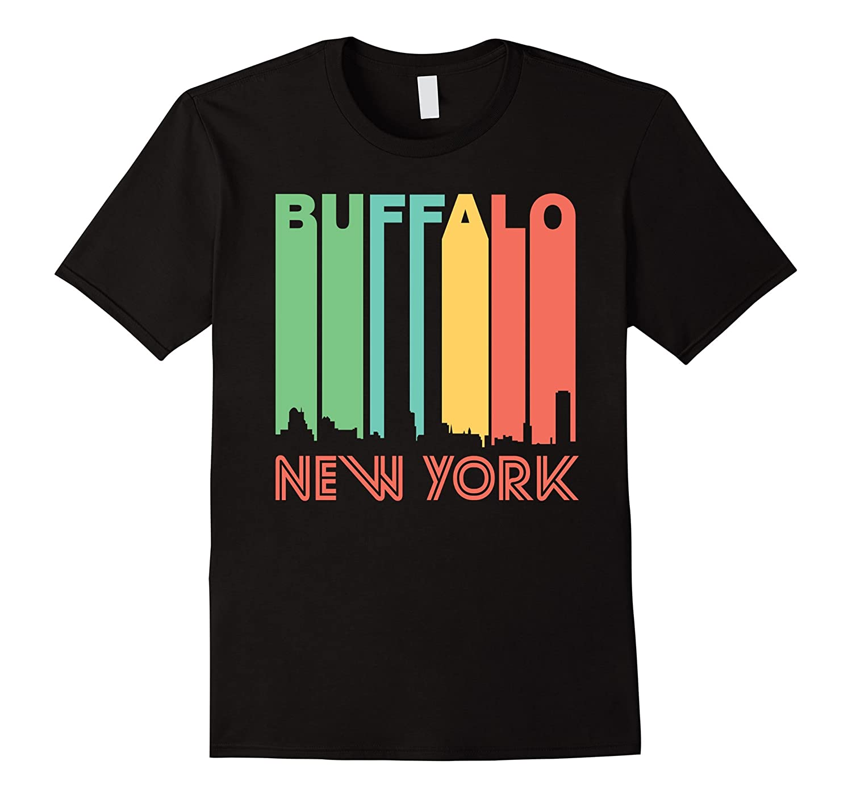 Retro 1970 s style buffalo new york skyline t shirt art for Custom t shirts buffalo ny