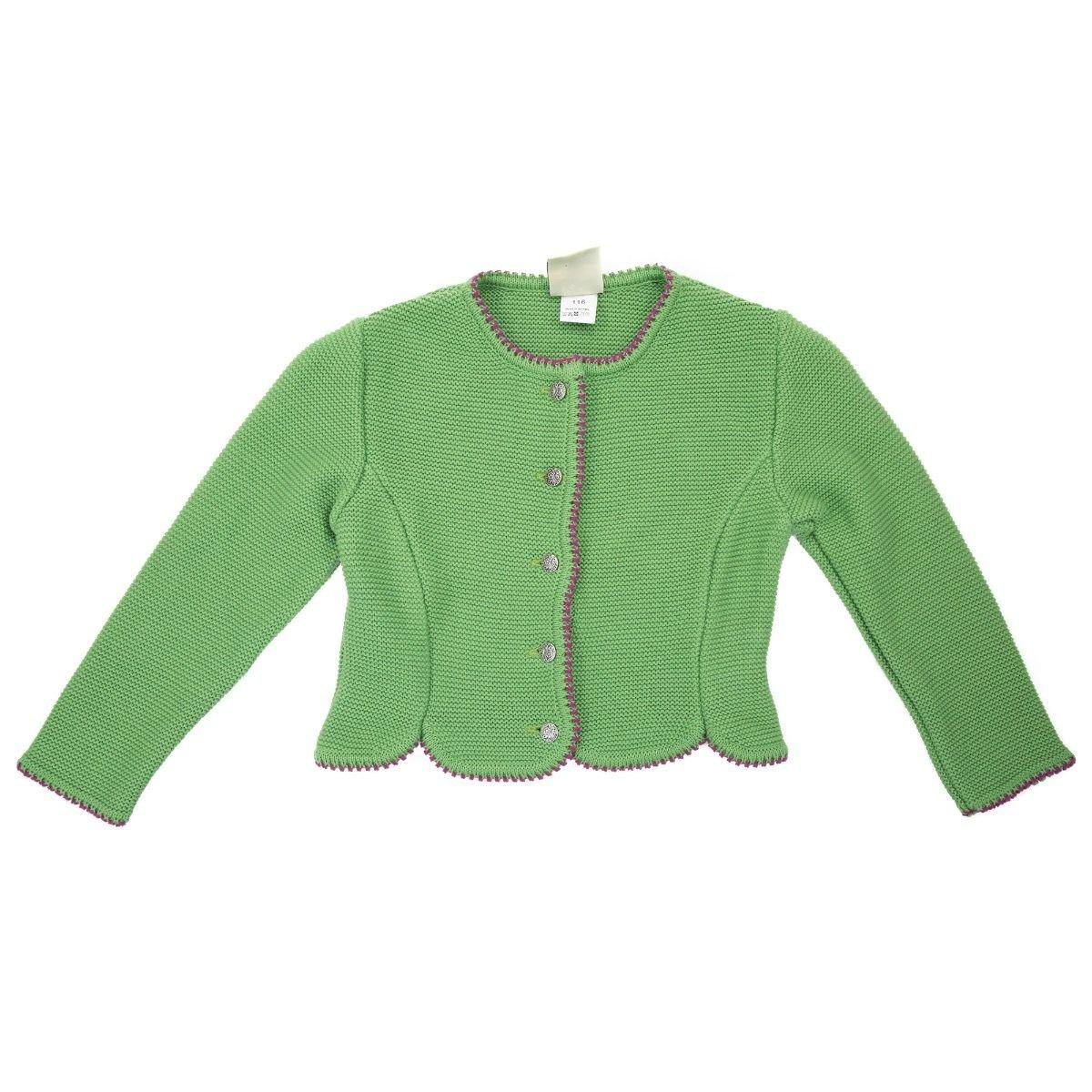 Isar-Trachten - Trachten - Strickweste & Strickjacke für Mädchen - in Verschiedenen Farben:grün, rot, blau, rosa, Altrosa oder pink/Festlich Aber auch zum Alltag