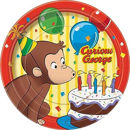 Curious George Dessert Plates 8ct  sc 1 st  Amazon.com & Amazon.com: Curious George Dessert Plates 8ct: Toys u0026 Games