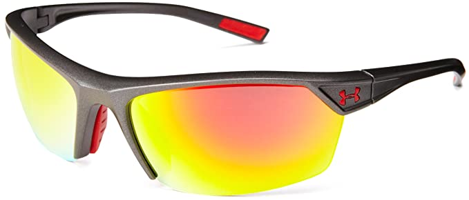 fba187fd33aa Under Armour Zone 2.0 Satin Carbon Frame, with Red Rubber, Gray with Orange  Multiflection