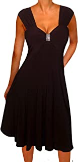 product image for Funfash Plus Size Women Empire Waist A Line Slimming Cocktail Dress Made in USA