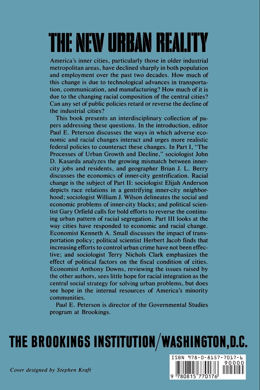 The New Urban Reality: Paul E. Peterson: 8580000812596: Amazon.com ...