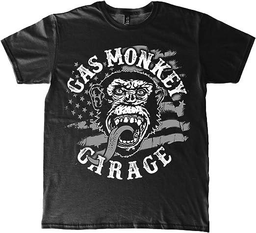 Gas Monkey Garage T-Shirt American Monkey Black: Amazon.es: Ropa y accesorios