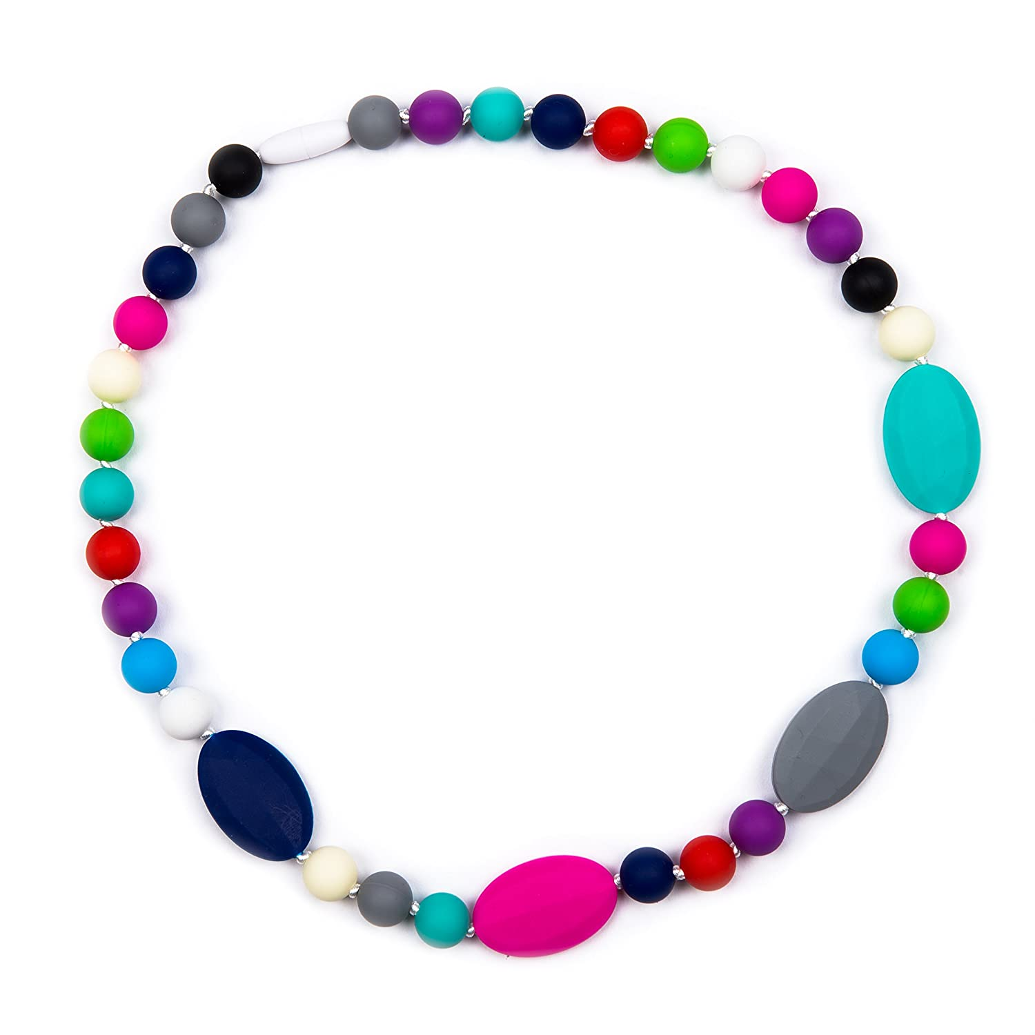 Rainbow Colours Silicone Nursing//Sensory Jewellery BPA Free Teething Bracelet