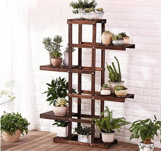 Sillas FL Pergolas/flor estante de madera de madera para plantas expositor de macetas de madera