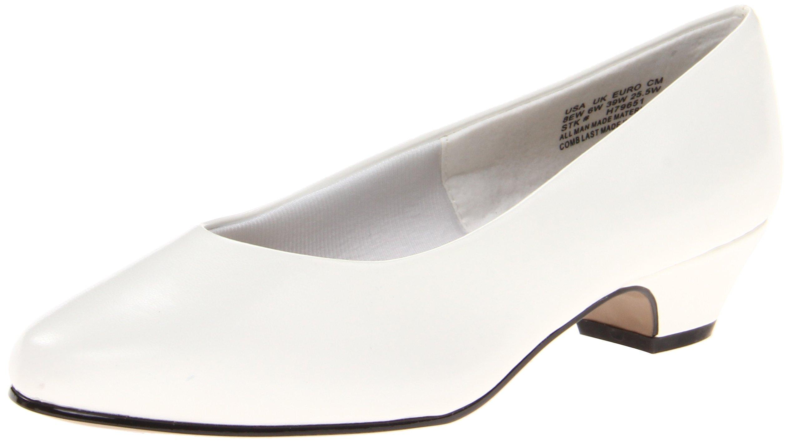 Soft Style Women's Angel II Pump,White Smooth,7 W US