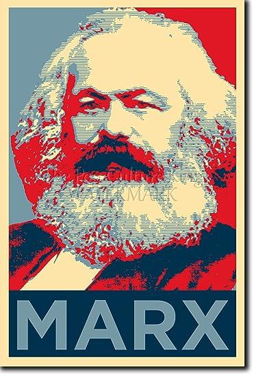 Amazon.com: Karl Marx Art Print 'Hope' - 12x8 High Quality ...