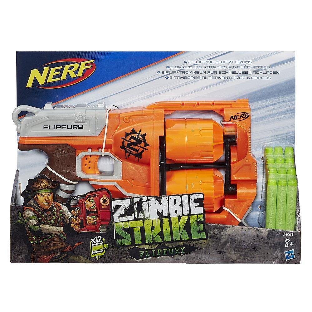 Nerf Zombie Strike Slingfire And Flipfury Blaster Dart Guns