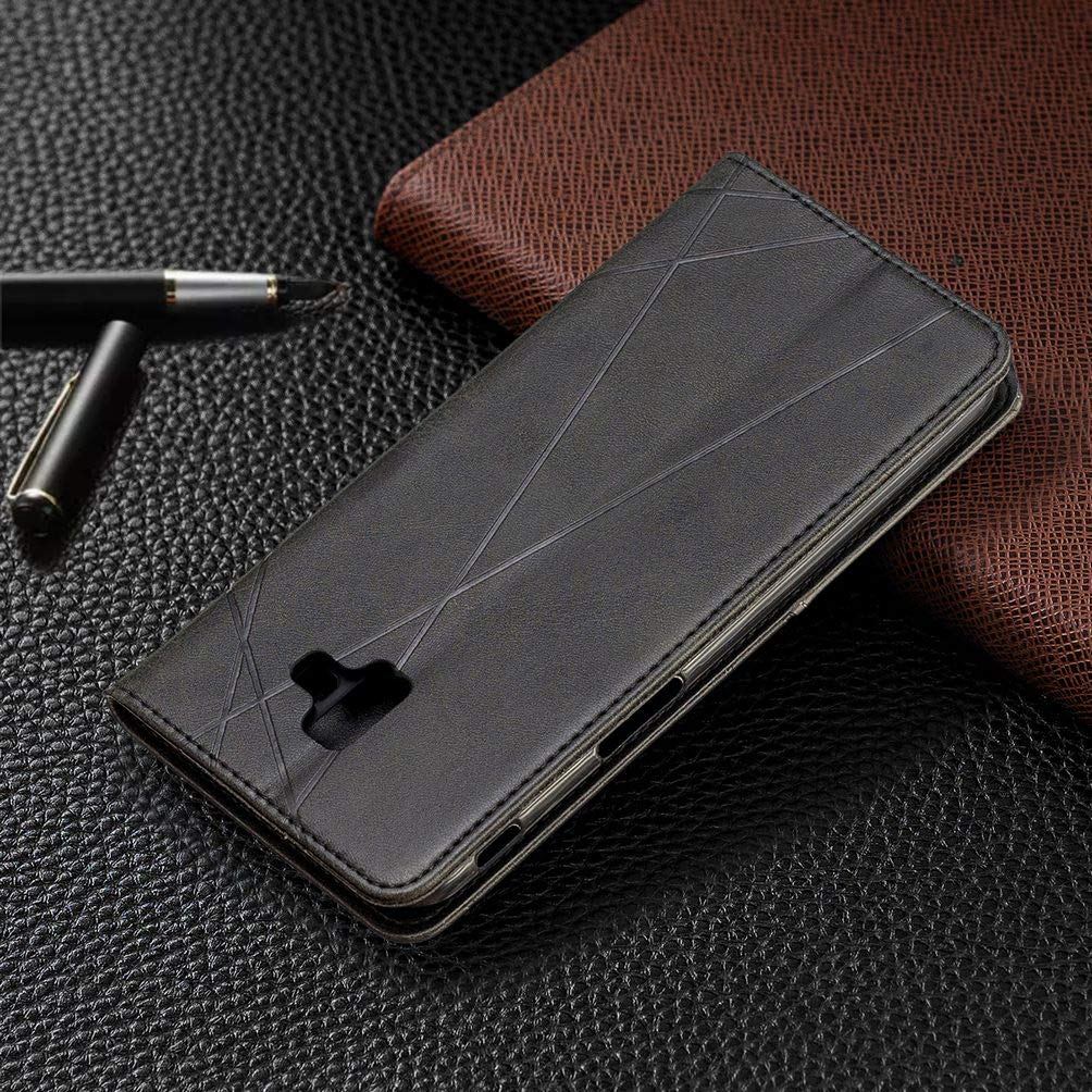 con Stylus Pen Billetera Estuches Tapa para Galaxy J6+ // SM-J610FN//DS Rojo 2 Ranuras para Tarjetas LEMORRY Fundas para Samsung Galaxy J6+ Carcasa de PU Cuero Suave Silicona Soporte Plegable