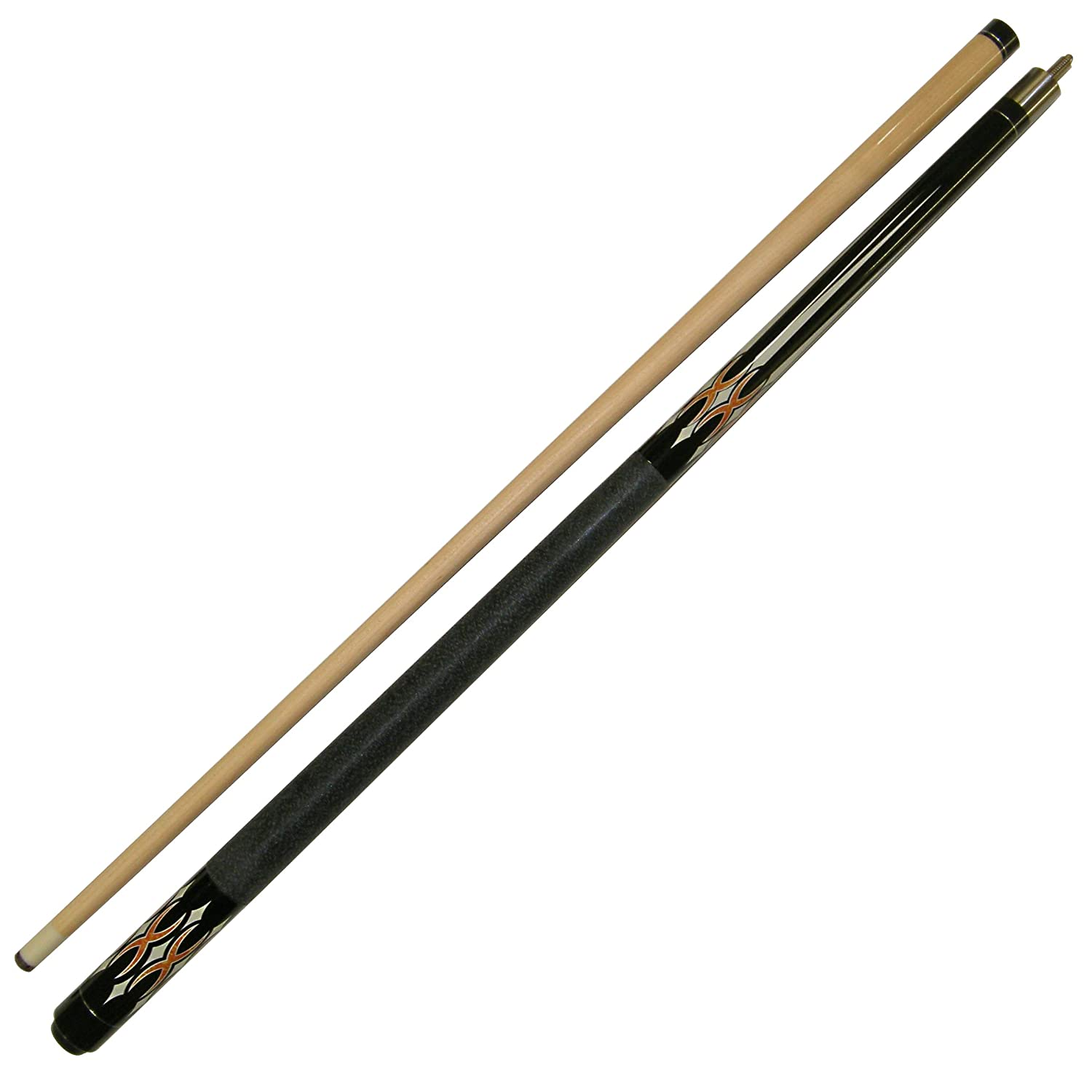 Iszy Billiards 58-Inch Hardwood Maple Pool Cue Billiard Stick, 2-Piece, Black, 19-Ounce BND-04-19