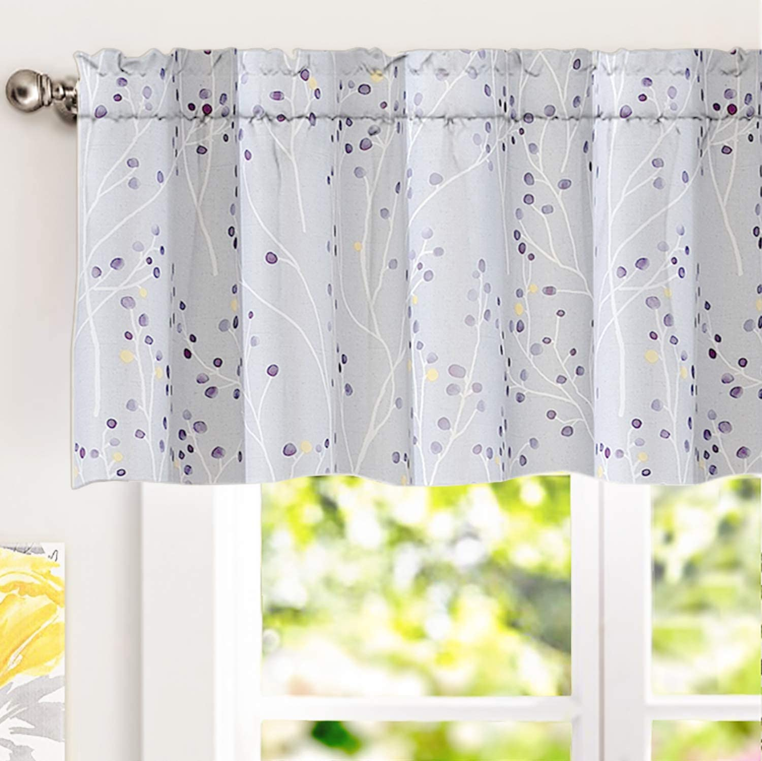 Elegant Ink Paint Windows Curtain For Living Room Decoration Polyester Woven New