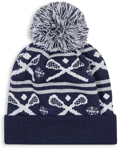 Lacrosse Pom Pom Beanie Hat