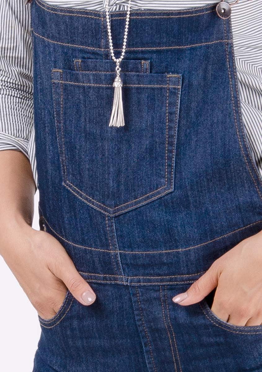 Wash Clothing Company Damen Jeanslatzhose Darkwash Blau Latzjeans Overalls Denim Dungarees Dottie