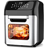 whall Air Fryer, 13QT Air Fryer Oven, Family Rotisserie Oven, 1700W Electric Air Fryer Toaster Oven, Tilt led Digital Touchsc
