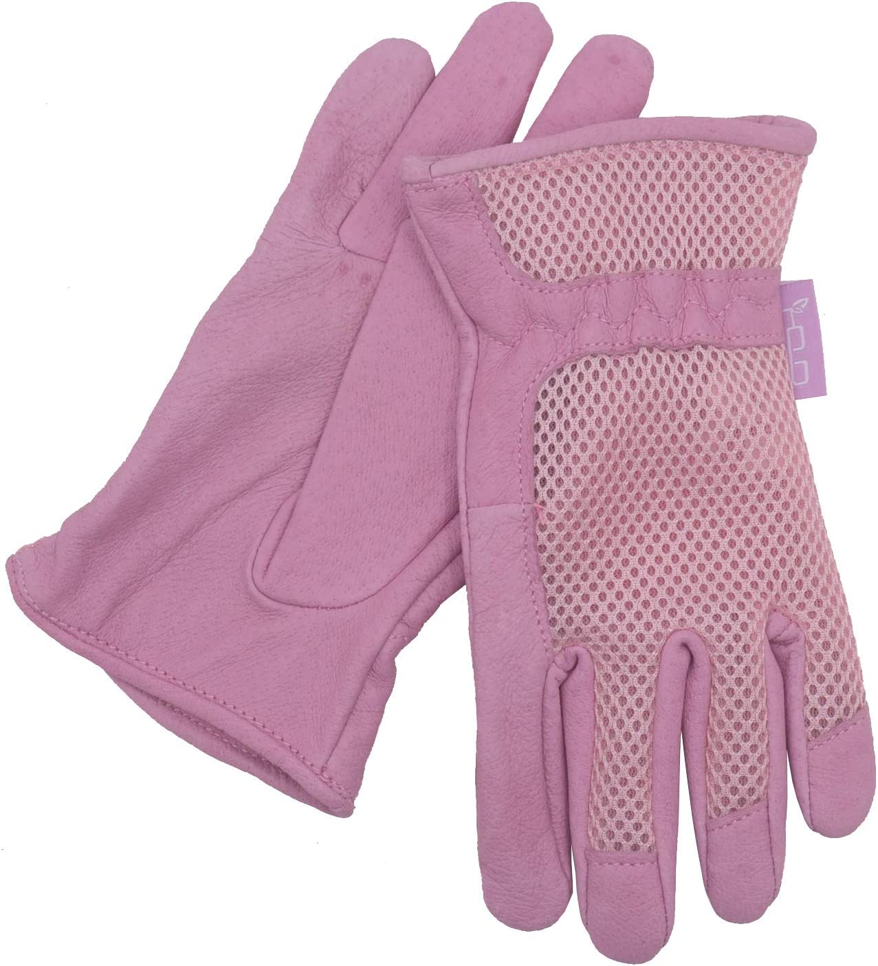 Large, Pink HANDLANDY Womens Garden Gloves Scratch Resistance Leather Gardening Gloves for Ladise,Yard Gloves 3D Mesh Comfort Fit Improves Dexterity and Breathability