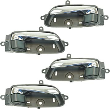 Door Handle Chrome Inside Interior Front Or Rear Lh Rh Pair For