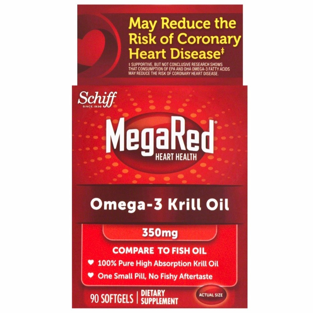 MegaRed 350mg Omega-3 Krill Oil, 90 softgels (Pack of 6)