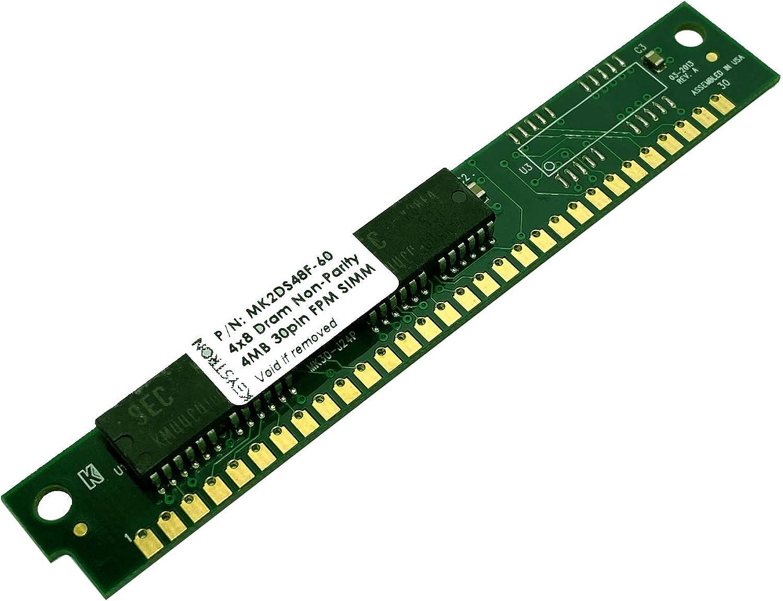 Keystron 4MB 30pin Non-Parity SIMM RAM Memory 60ns for Apple, Macintosh, Musical Sampler, Old PC, Video Controller