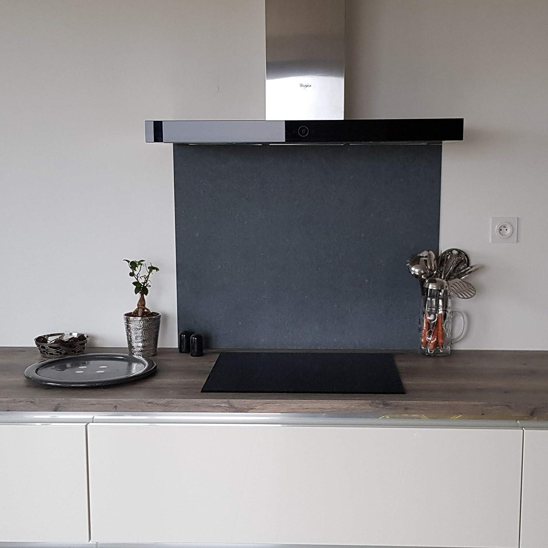 AluCouleur Fondo de Campana/crédence Pebble Stone – 7 tamaños – Altura 75 cm x, Negro, Largeur 80 cm: Amazon.es: Hogar
