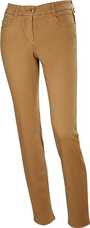GARDEUR Jeans Zuri Damen Stretch Super Slim Fit, Farbe:hellbraun ;Damengrößen:44