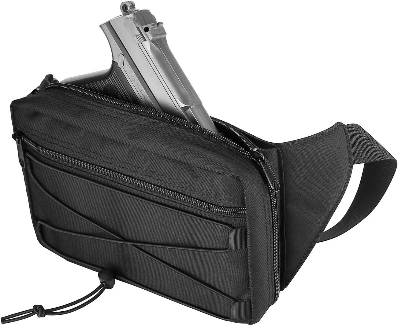 Procase Funda Oculta de Pistola, Riñonera para Llevar Pistolas Glock en la Cintura, Springfield, Sig y la Mayoría de Las Pistolas Compactas y Subcompactas -Negro