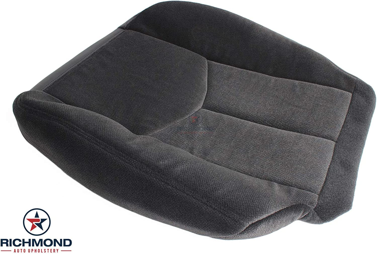 Compatible with 2004 2005 2006 GMC Sierra 1500 2500 SLE SLT Z71 HD Gray Driver Side Bottom Replacement Cloth Seat Cover Richmond Auto Upholstery