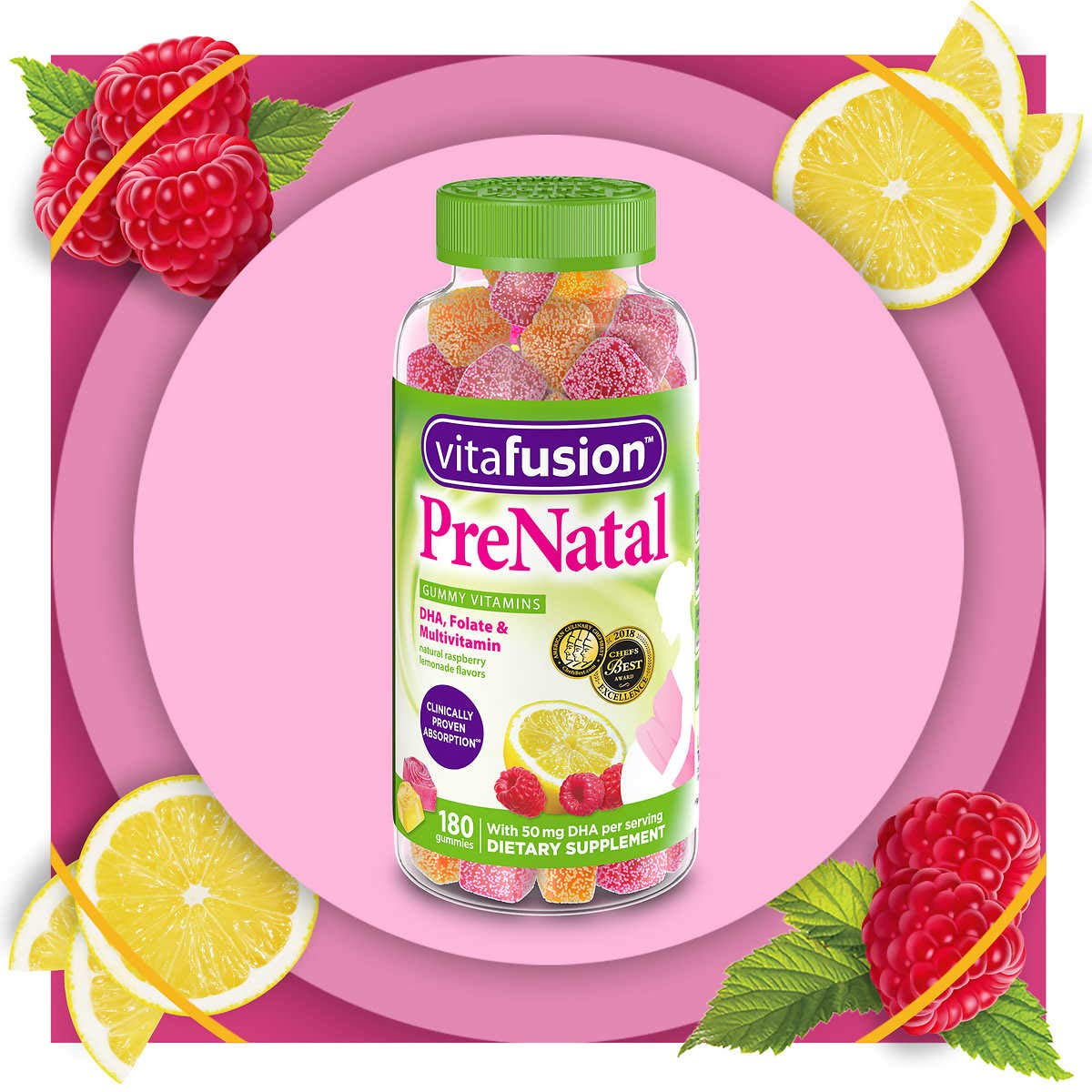 Vitafusion Prenatal Gummy Vitamins, 180 Count (Packaging May Vary)
