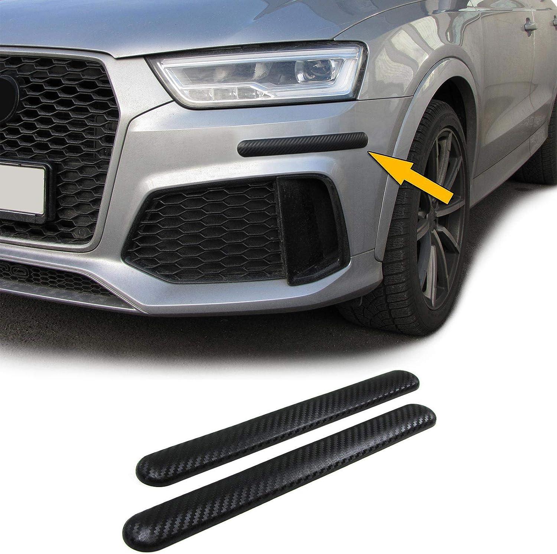 Carparts Online 28687 Stoßstangen Schutz Streifen Flexibel Zum Kleben Universal 306x35mm Carbon Mit Struktur Auto