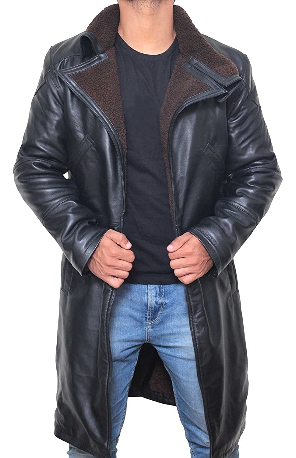 Blade Runner Trench Coat Men - Ryan Gosling Winter Shearling Jacket Coat for Men EL-Y1LF-4N9N