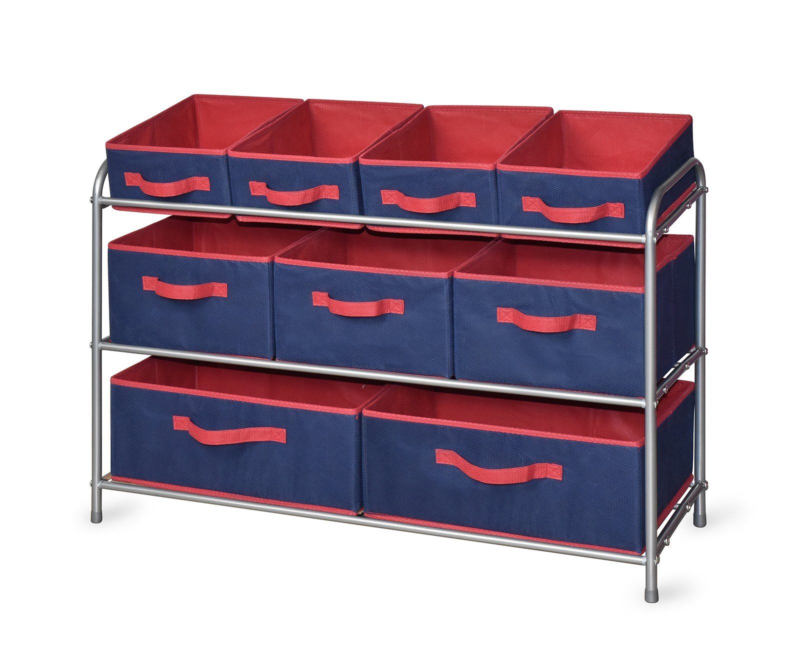 Bintopia 88841 Storage Rack, Navy/Red