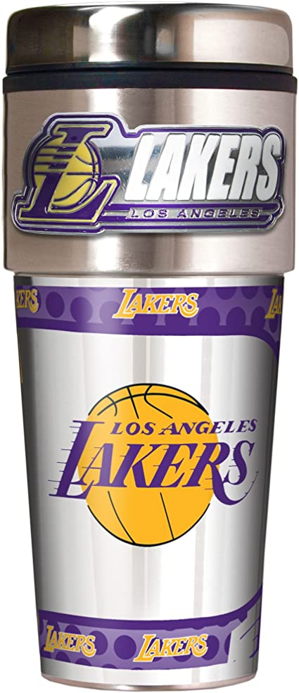One Size Great American Products NBA Los Angeles Lakers Metallic Tumbler Black