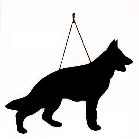 Pastor alemán Perro Perro – regalo único hecho a mano, con forma de pizarra,