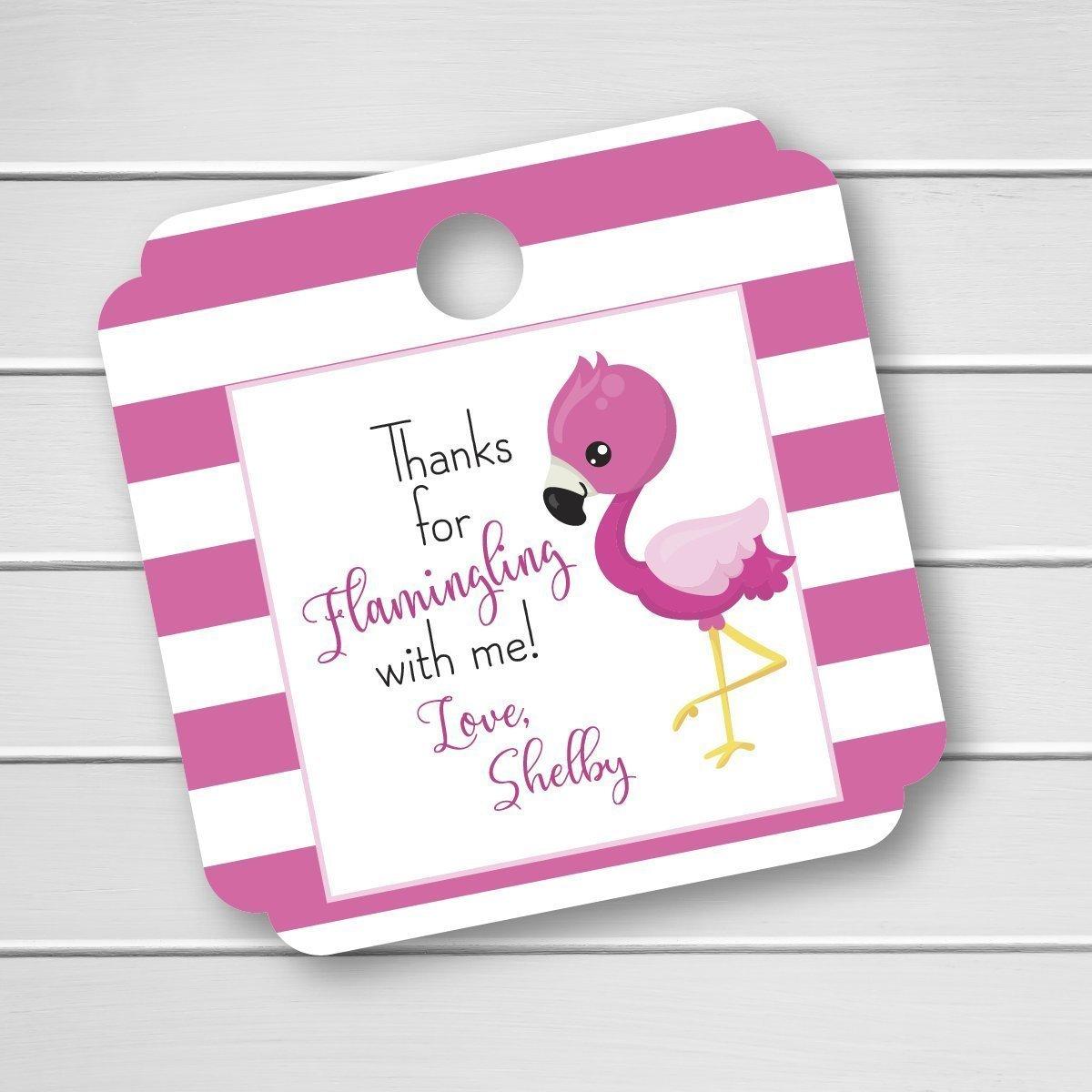 Amazon.com: Flamingo Birthday Party Favor Tags, Thanks for ...