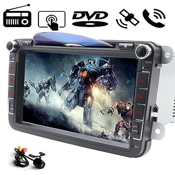 In Dash - Reproductor de DVD para coche, pantalla táctil digital de 8 pulgadas,