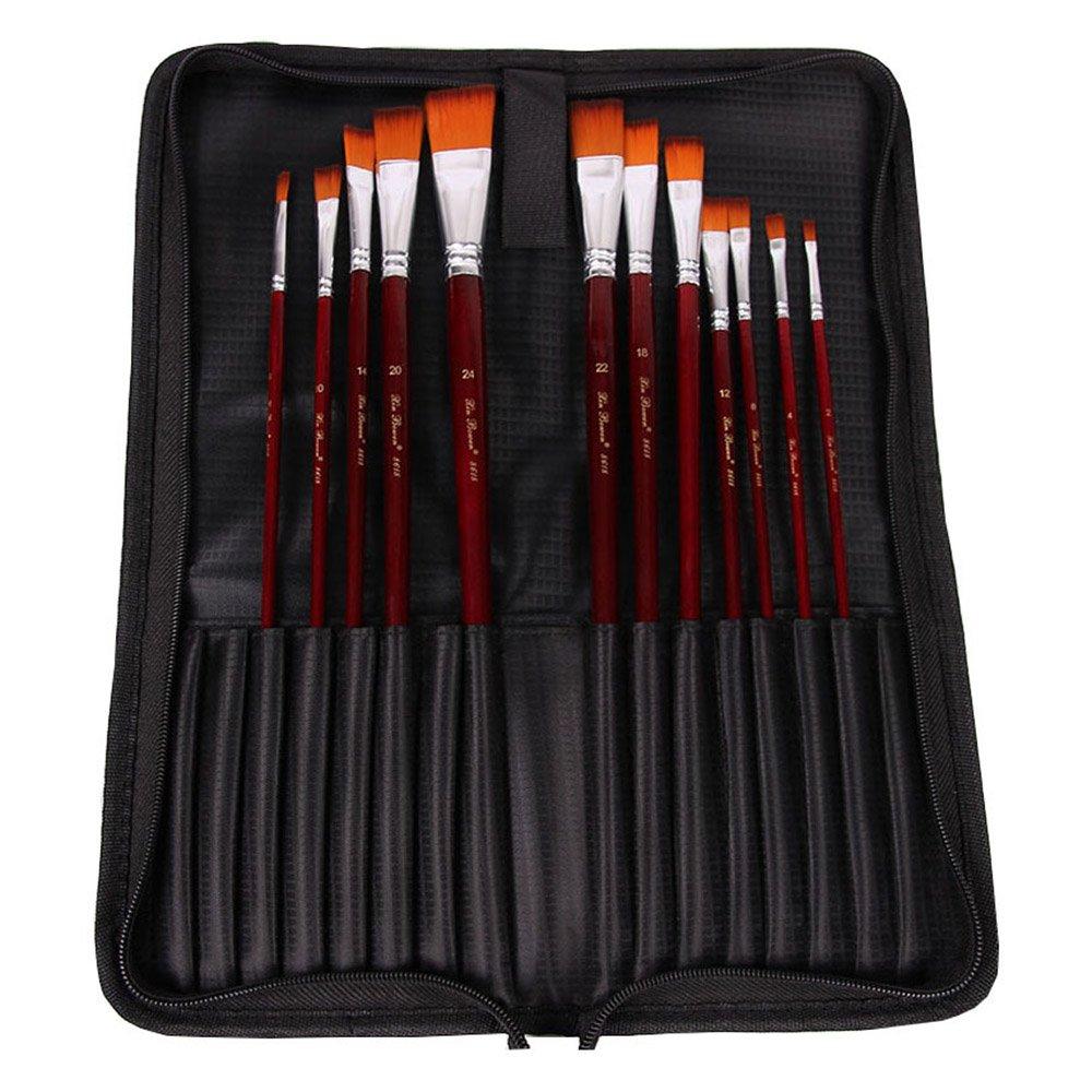 Guodanqing Creative Brass Pen Curtain Pen Pocket Pencil Bag Pencil Bag Oil Brush Set (Color : Black)
