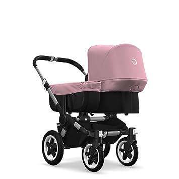 Schwarz//Soft Pink Erweiterbarer 2-in-1 Erstlings Bugaboo Donkey 2 Mono und Kinderwagen