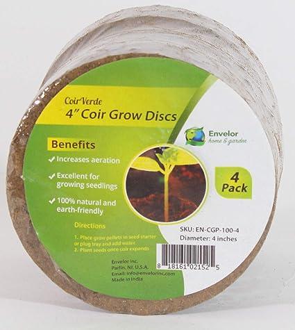 Envelor Home and Garden Coir Grow Discs Potting Soil Coco Discs Seed  Starter Pellets Coconut Peat Pellets Indoor Outdoor Garden Plants and  Vegetables