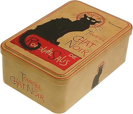 French Classics - Caja metálica, diseño de Chat Noir (18 x 12 x 7 ...