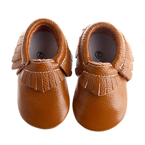 77c1652282c Pidoli Girls Leather Baby Moccasins Infant Toddler Soft Sole (0 2.5M  0-3Month