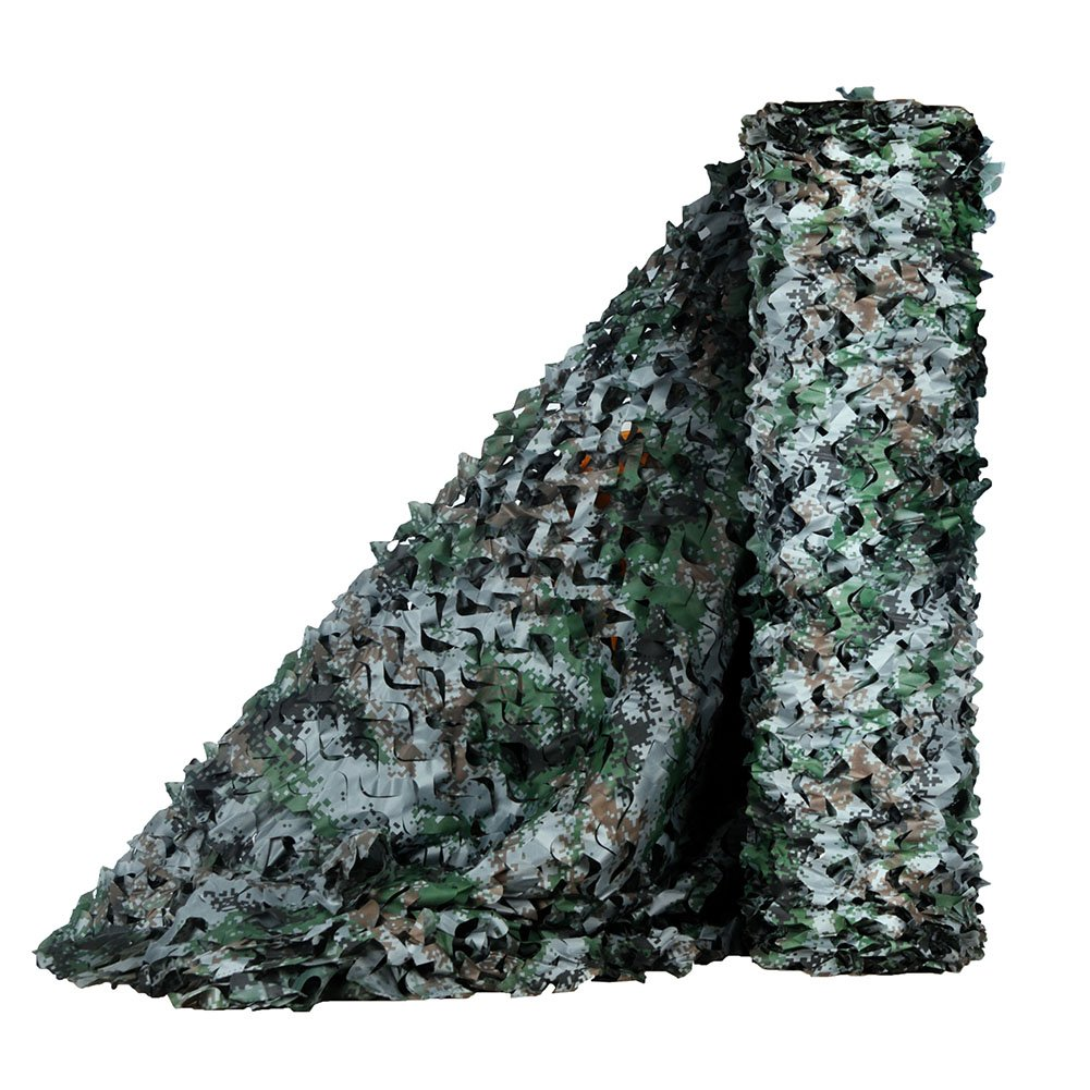 LOOGU Camouflage Net for Photography Background Decoration Hunting Blinds (Woodland Digital, 1.5x20M=5x65.6ft) by LOOGU