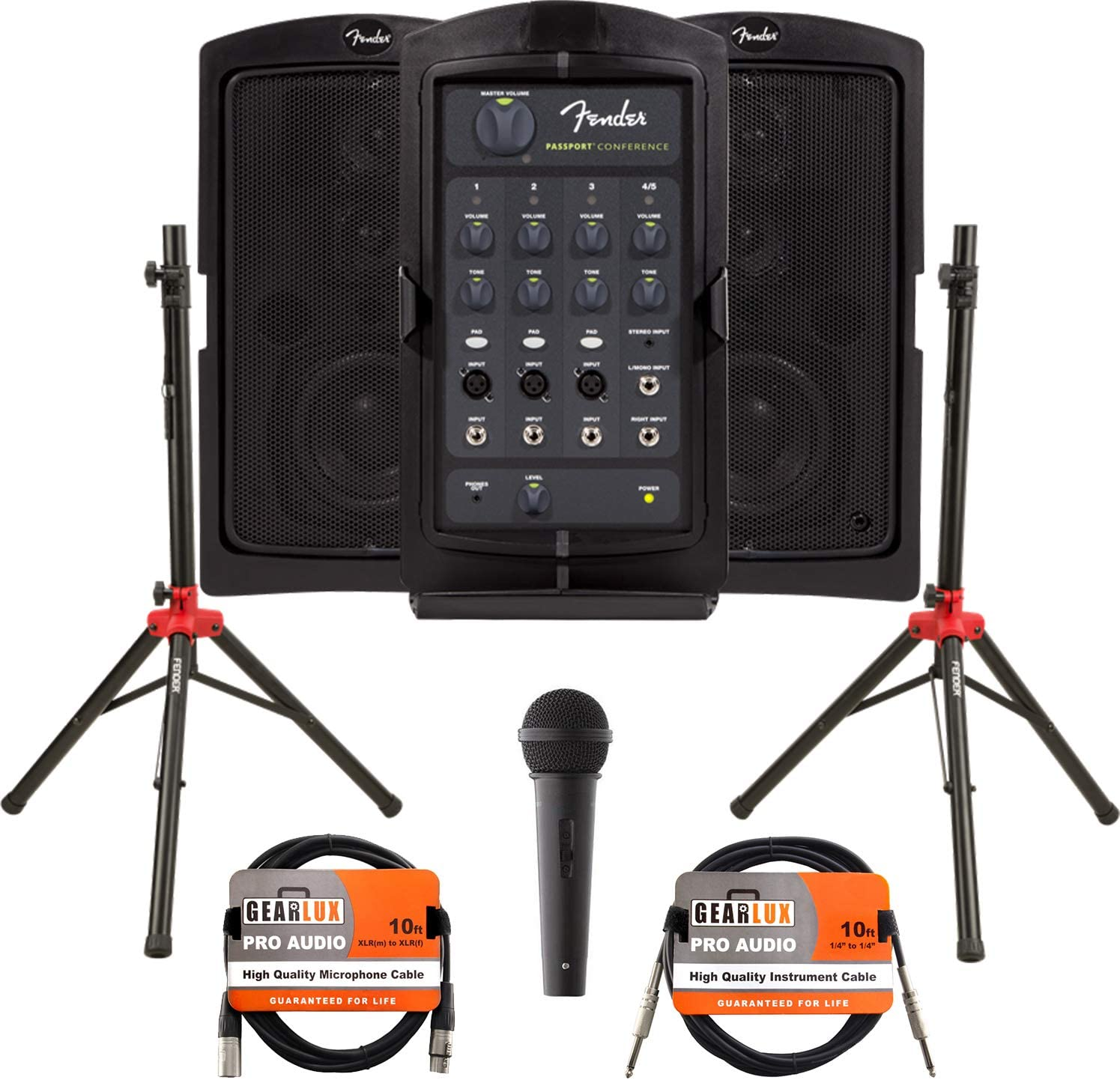 Fender Passport Conference Portable PA System Bundle with Microphone