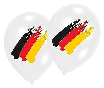 Dekoration Deutschland.Luft Ballons Deutschland Flagge Party Balloons Schwarz Rot
