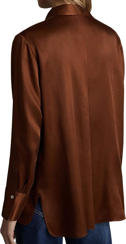 MASSIMO DUTTI 5138/532/735 - Camisa para Mujer con Bolsillo marrón 40: Amazon.es: Ropa y accesorios