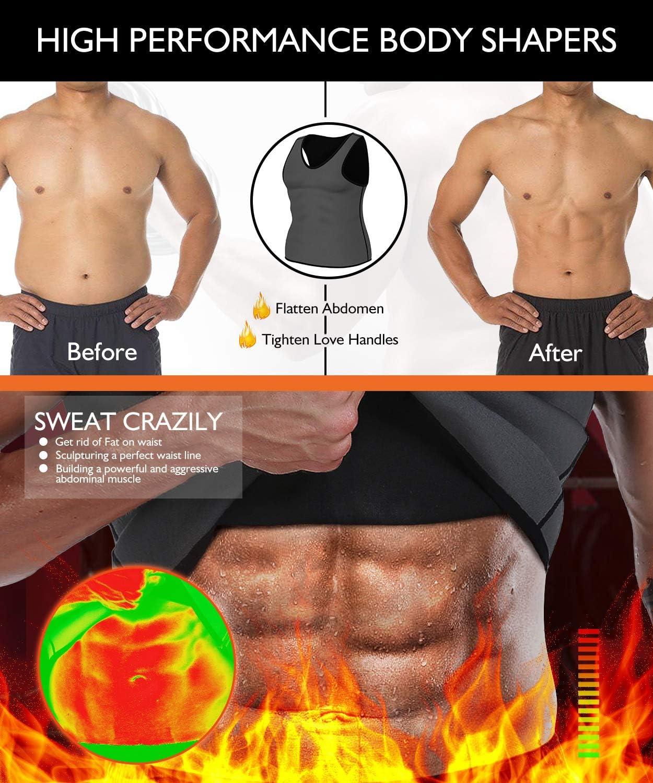 Neopren mit Rei/ßverschlu/ß LaLaAreal Herren-Tank-Shirt Muskelaufbau Cardio etc. ideal f/ür Gewichtsverlust 10/mm
