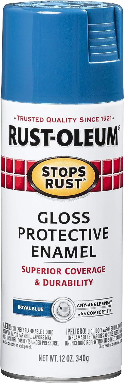 Rust-Oleum 7727830 Stops Rust Spray Paint, 12-Ounce, Gloss Royal Blue