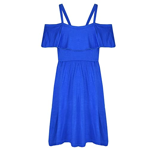 A2Z 4 Kids® Girls Skater Dress Kids Deigners Plain Color Party Fashion Off Shoulder Dresses